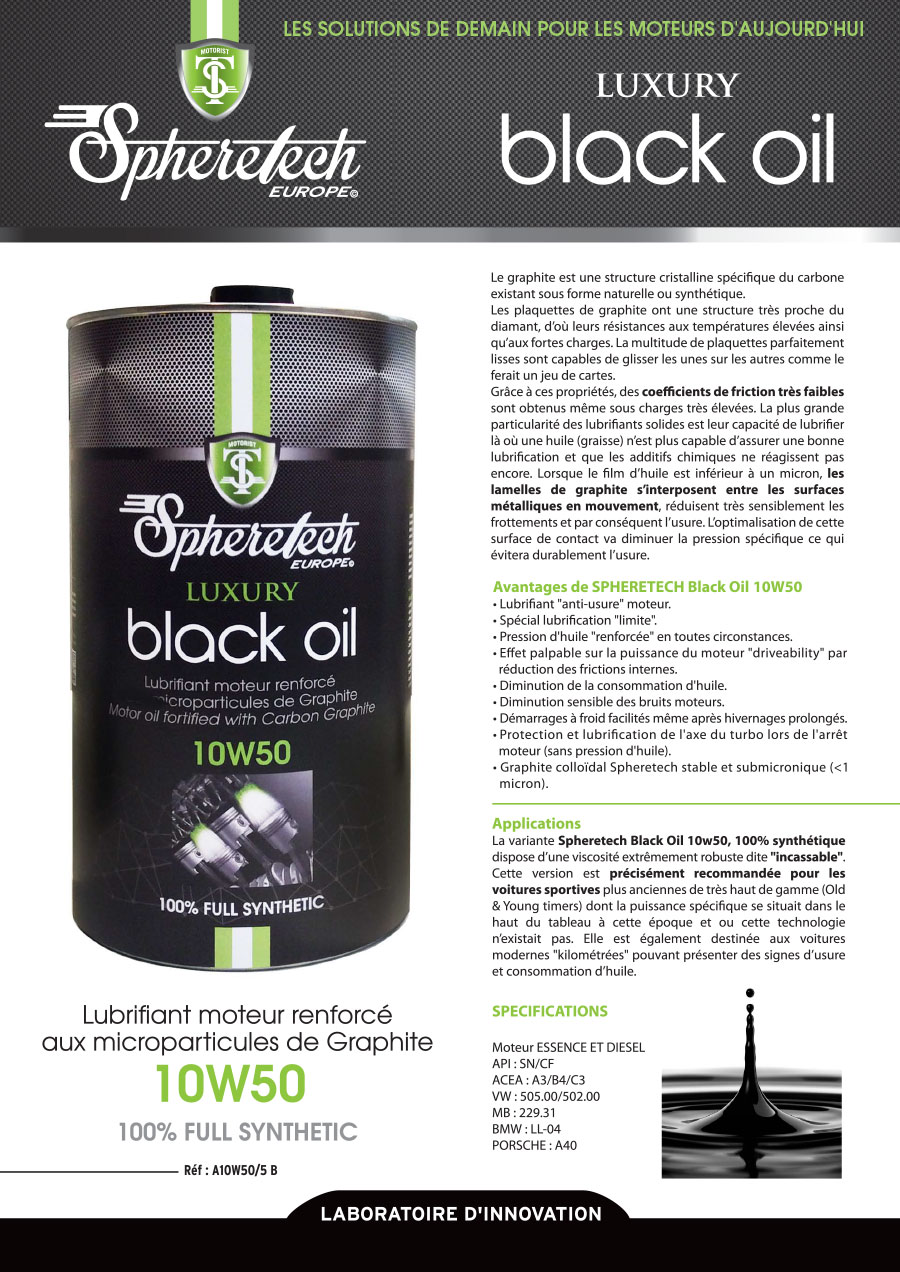 black oil 10w50 5l spheretech europe. Black Bedroom Furniture Sets. Home Design Ideas