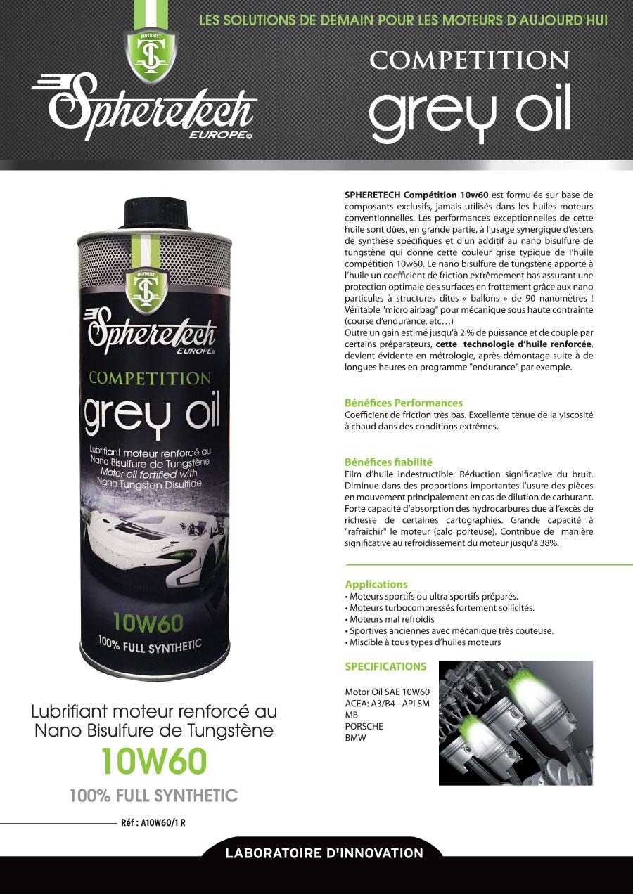 grey oil 10w60 1l spheretech europe. Black Bedroom Furniture Sets. Home Design Ideas