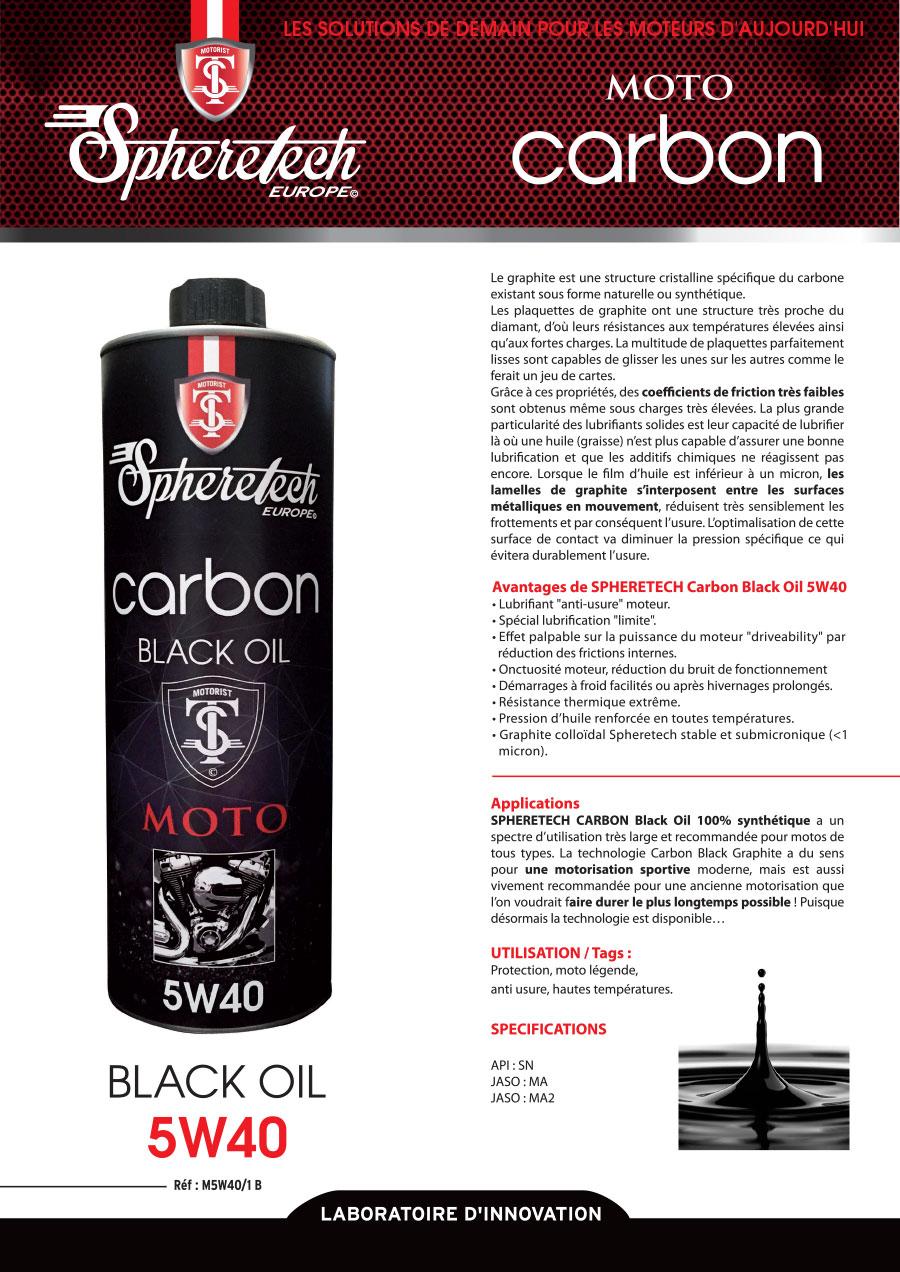 carbon black oil 5w40 1l spheretech europe. Black Bedroom Furniture Sets. Home Design Ideas