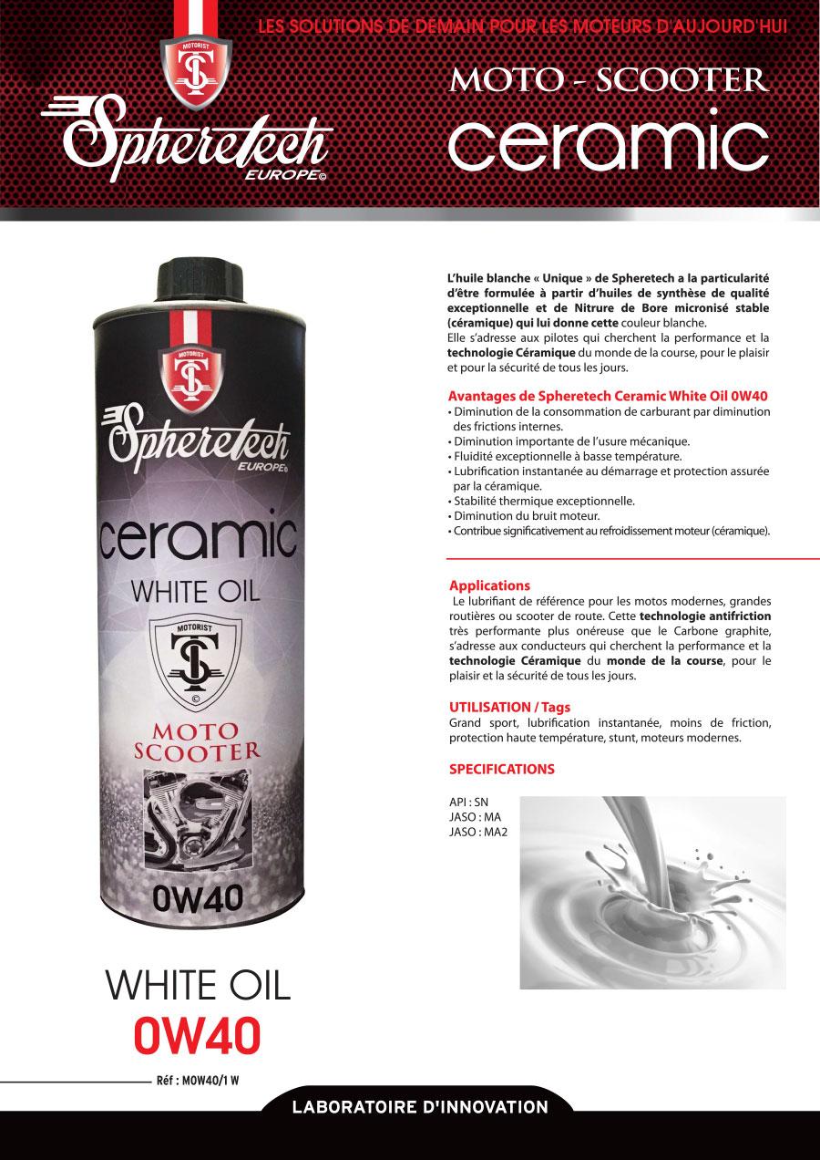 ceramic white oil 0w40 1l spheretech europe. Black Bedroom Furniture Sets. Home Design Ideas