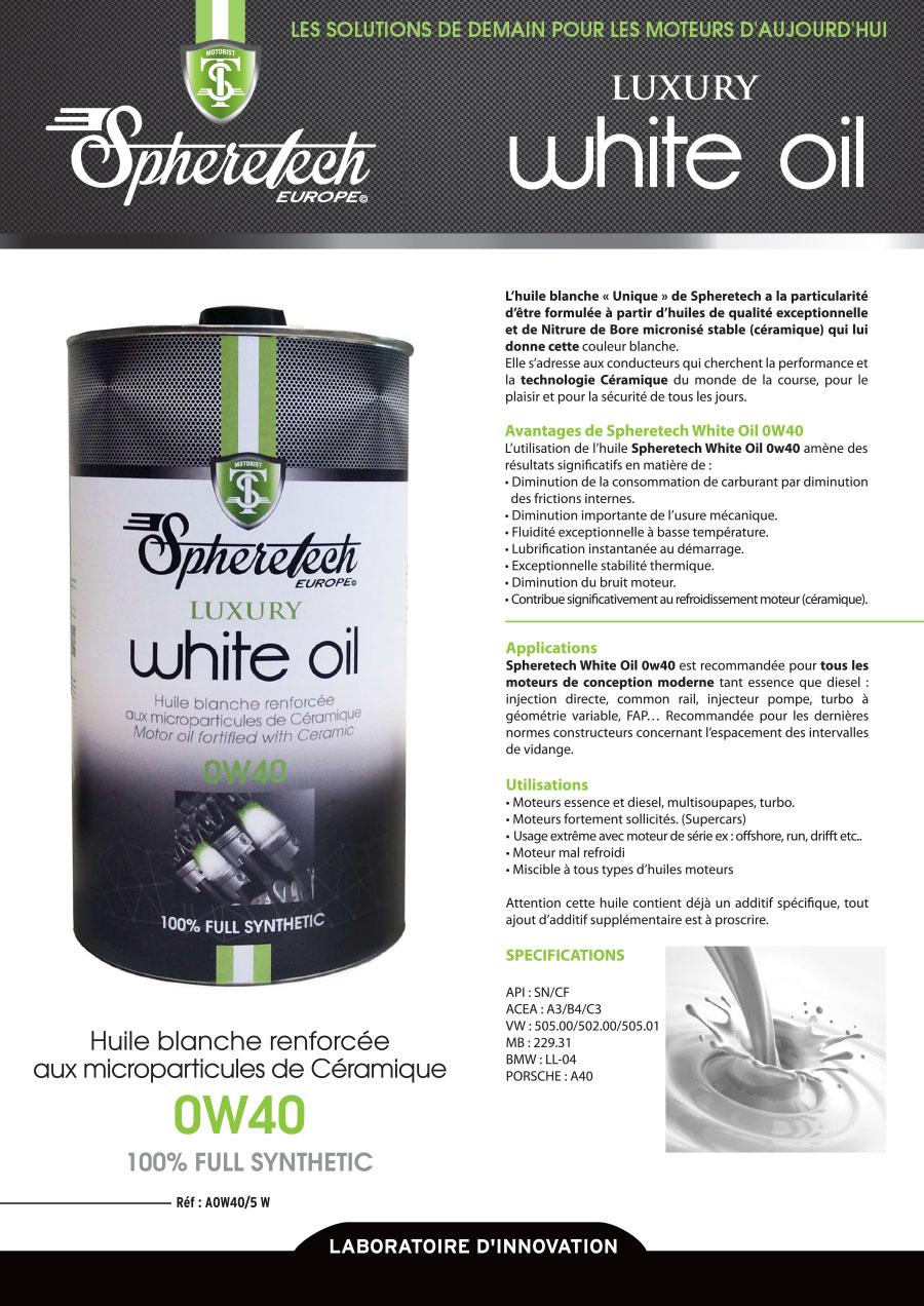 white oil 0w40 5l spheretech europe. Black Bedroom Furniture Sets. Home Design Ideas